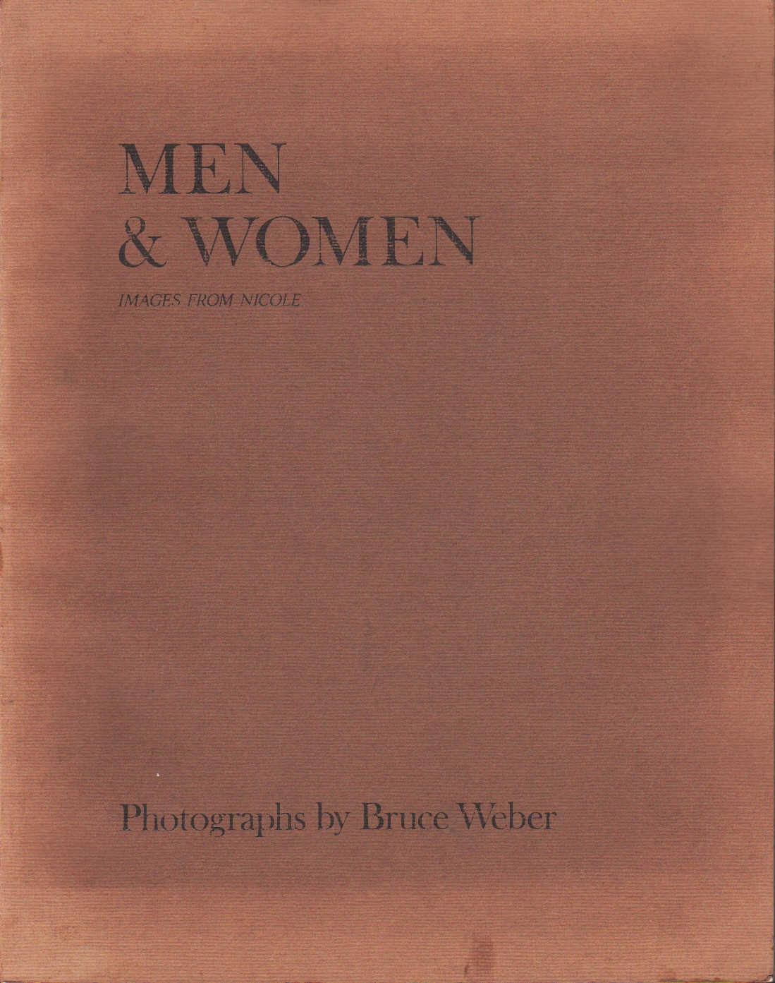 1983 | Men & Women, Bruce Weber, Nicole
