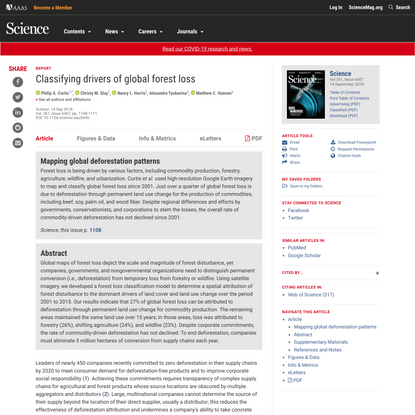 Classifying drivers of global forest loss