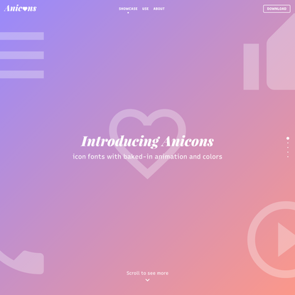 Anicons: Icon Fonts With Color and Animation