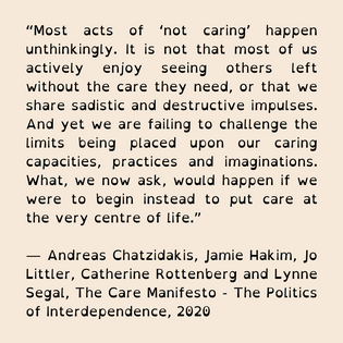 Provocation from The Care Manifesto