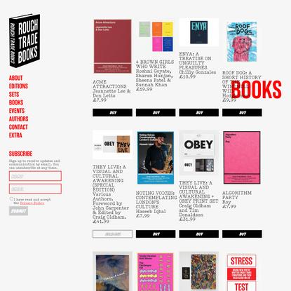 Books | Rough Trade Books