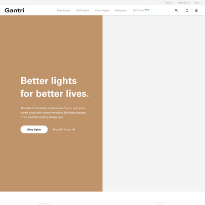 Gantri | Designer lights. Sustainably made.