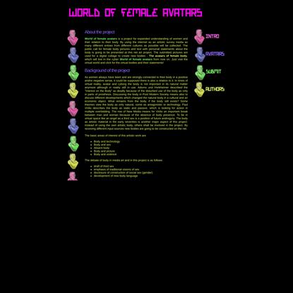 World of female avatars::Intro