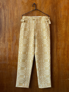 Bode Yellow Coverlet Trousers