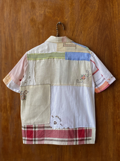 Bode Plaids Embroidered Napkin Shirt