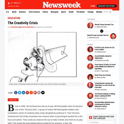 The Creativity Crisis