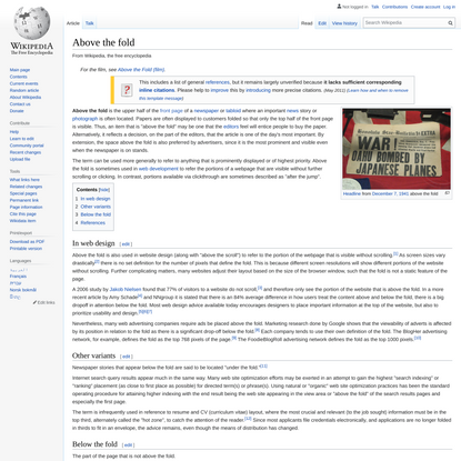Above the fold - Wikipedia