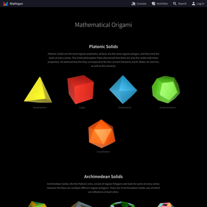 Mathematical Origami – Mathigon