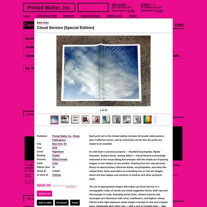 Batia Suter - Cloud Service (Special Edition) - Printed Matter