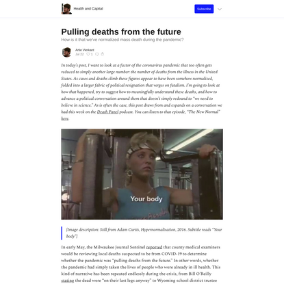 Pulling deaths from the future