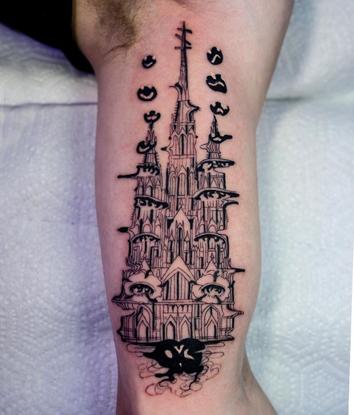 """Julian Llouve on Instagram: """"⛪️ + 🏊♀️ + 🌺 = . . . . . . . . . . . #surrealism #surreal #tattooart #tattoodesign #tattooarti..."""