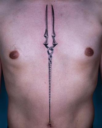 """Oozy on Instagram: """"Spear of Longinus (evangelion) 💜 . #evangelion #oozy #oozytattoo"""""""