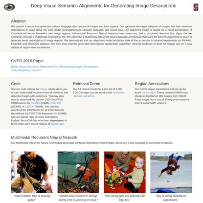 Deep Visual-Semantic Alignments for Generating Image Descriptions
