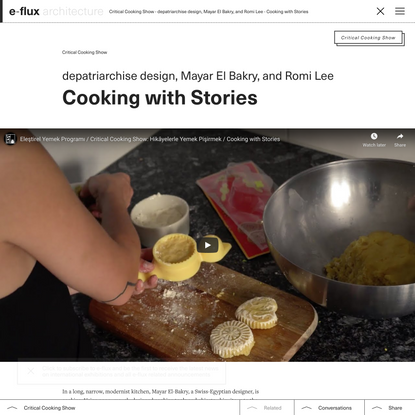 Cooking with Stories