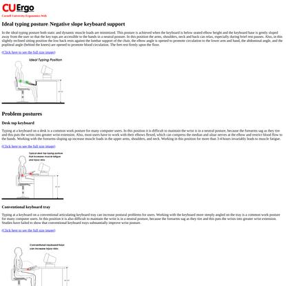CUergo: Neutral Posture Typing