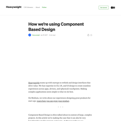 How we're using Component Based Design