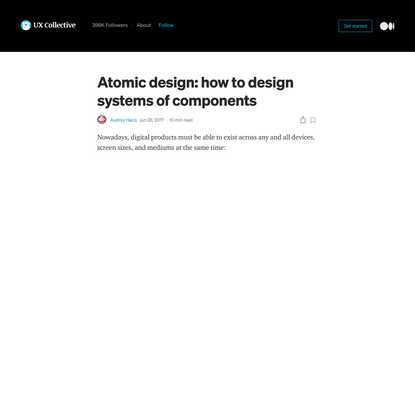 Atomic design: how to design systems of components