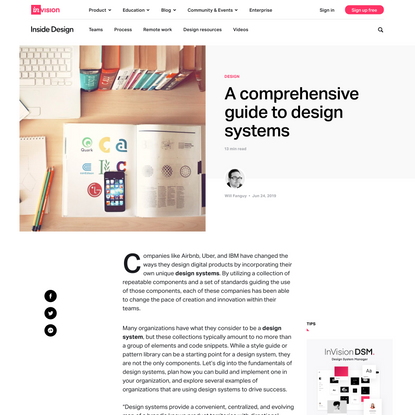 A comprehensive guide to design systems | Inside Design Blog