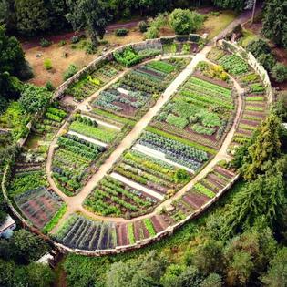 Kitchen Garden at Gravetye Manor, West Sussex, UK