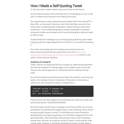 Oisín Moran | How I Made a Self-Quoting Tweet