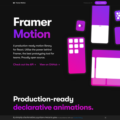 Framer Motion: Production-Ready Animation Library for React