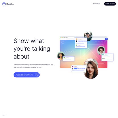 Bubbles: Video and Screenshot Collaboration