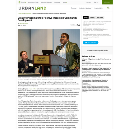 Creative Placemaking's Positive Impact on Community Development - Urban Land Magazine