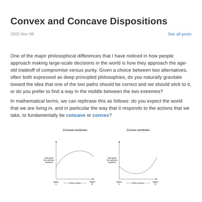 Convex and Concave Dispositions