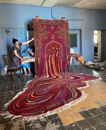 "NOWNESS on Instagram: ""2020 expectation vs reality⁠ ⁠ Incredible rug work from Azerbaijani contemporary visual artist, #Faig..."