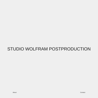 STUDIO WOLFRAM POSTPRODUCTION