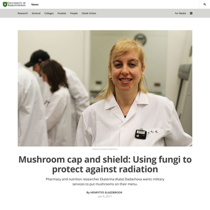 Mushroom cap and shield: Using fungi to protect against radiation