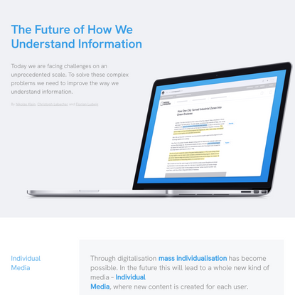 The Future of How We Understand Information