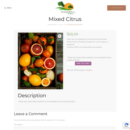 Mixed Citrus – Wonderfield Farm