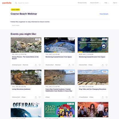 Coarse Beach Webinar