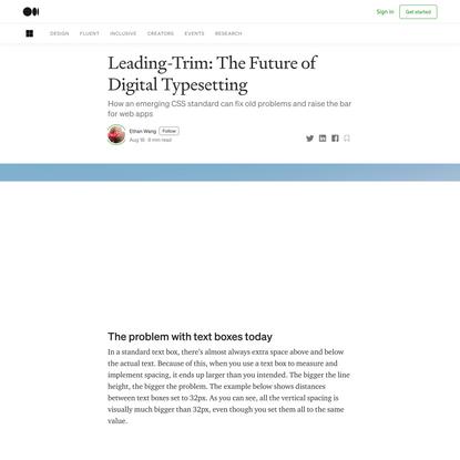 Leading-Trim: The Future of Digital Typesetting