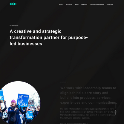 A creative and strategic transformation partner for purpose-led businesses.