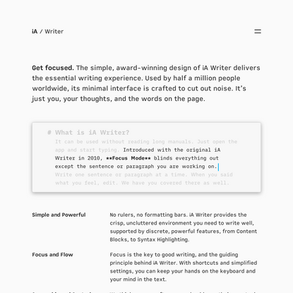 iA Writer: The Benchmark of Markdown Writing Apps