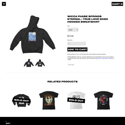 WICCA PHASE SPRINGS ETERNAL - True Love 2020 Hooded Sweatshirt