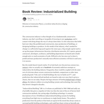 Book Review: Industrialized Building
