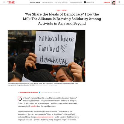 How the Milk Tea Alliance Is Uniting Pro-Democracy Activists
