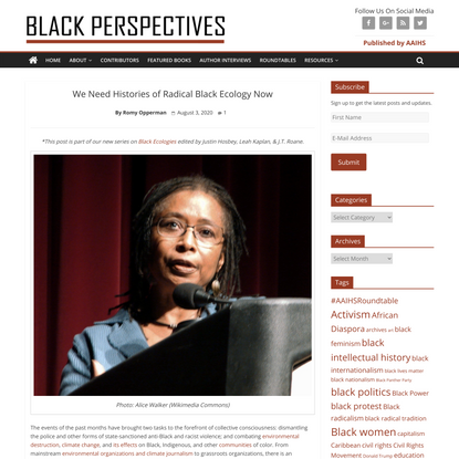 We Need Histories of Radical Black Ecology Now