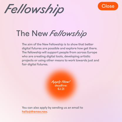 Fellowship - The New New
