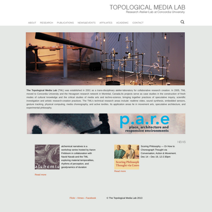 The Topological Media Lab