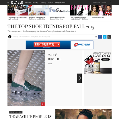 Fall 2015's Top Shoe Trends