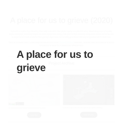 A place for us to grieve — chrissy brimmage