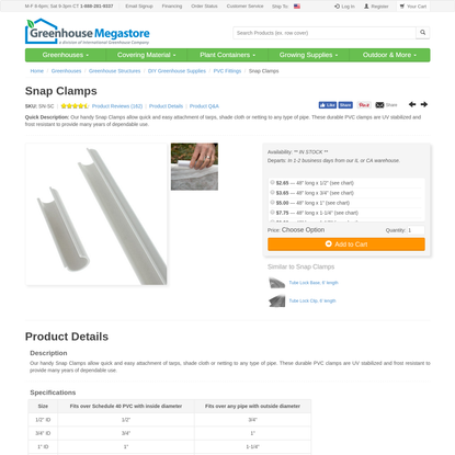 Snap Clamps