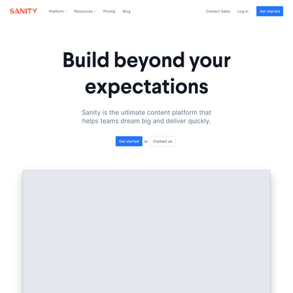 The Ultimate Content Platform – Sanity.io