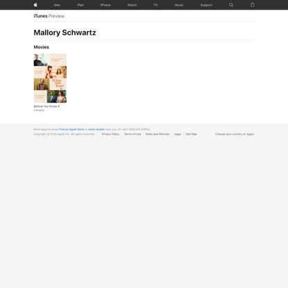 Mallory Schwartz Movies on iTunes