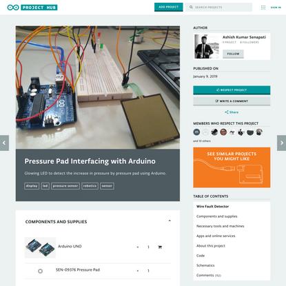 Pressure Pad Interfacing with Arduino