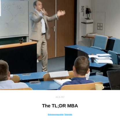 The TL;DR MBA